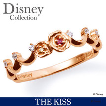 Disney × KISS Princess Bell Pink gold coating Sterling Silver 925 Ring 4... - $176.00