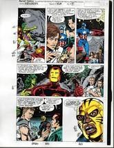 Original Avengers Marvel color guide art: Captain America/Thor/Iron Man/... - $59.39