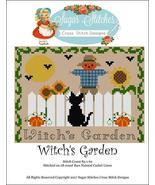 Witch's Garden halloween cross stitch chart Sug... - $7.00