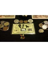 <TREASURE HUNT>Necklaces+10 GOLD&SILVER Banknotes/SILVER Bars/WORLD Coins& - $46.82