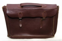 Vintage Mid-Century Girl Primary School Bag Brown Natural Leather  - $3,959.01