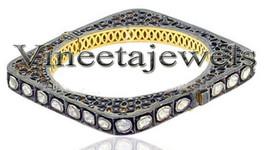 Edwardian Vintage Style Sterling Silver 4.10Ct. Anti./Rose Cut Diamond B... - $1,529.36