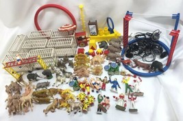 Vintage 100pcs+ Lot MARX Super Circus Figures Animals Cages Stage Lights... - $342.95