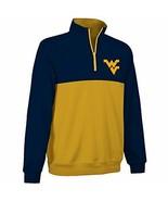 West Virginia Mountaineers 1/4-Zip Two-Color Fleece Pullover Jacket - Me... - $14.74