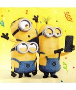 Despicable Me 3 Birthday Party Lunch Dinner Napkins 16 Per Package NEW - $3.32