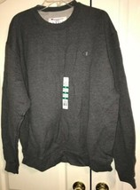 Champion Men's Sweatshirt XL Fleece Crew Granite Heather Gray New NWT - $19.99