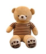 IKASA Giant Stuffed Teddy Bear with Brown Striped T-shirt - $47.09+