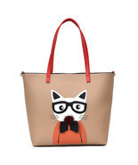 Pussycat Handbag Shoulder Messenger Bag Tote Bag For Women - $73.41 CAD
