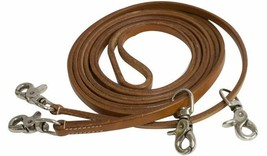 HARNESS LEATHER DRAW REINS TO TRAIN A HORSE ENGLISH DRESSAGE OR WESTERN ... - $19.79