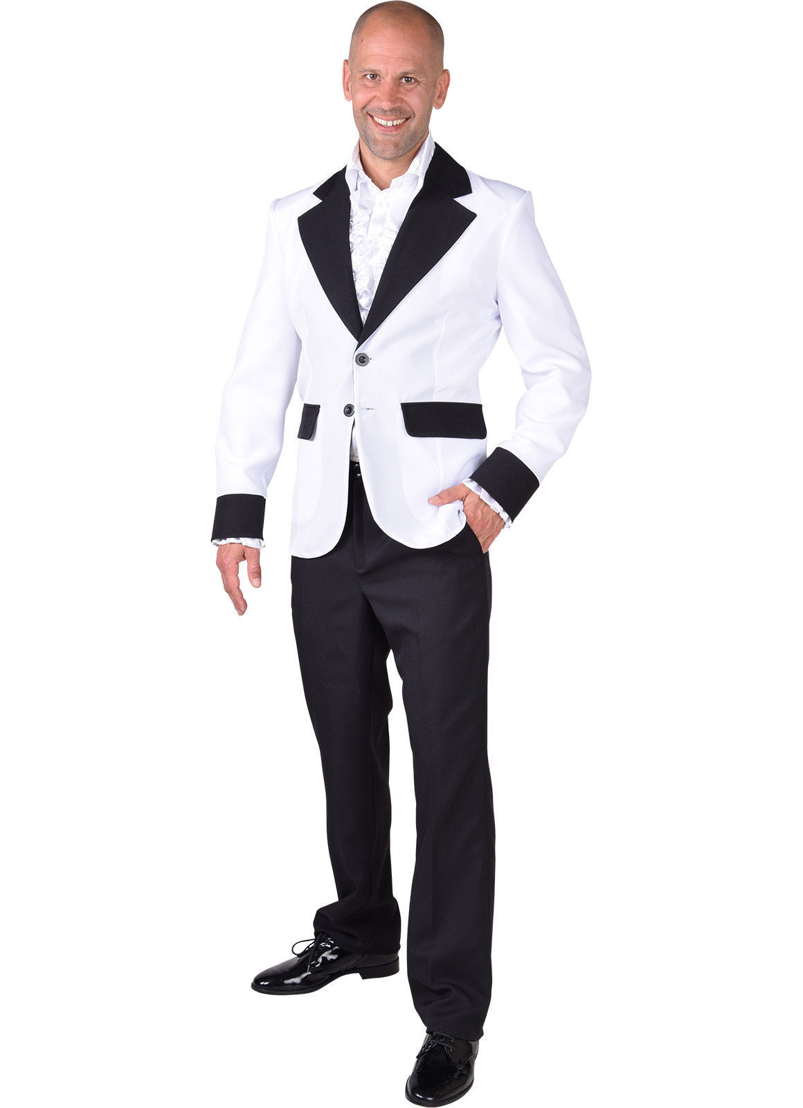 Show Jacket - White - Teddy Boy / Band / Hollywood / White Christmas  - XS-XXL