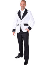 Show Jacket - White - Teddy Boy / Band / Hollywood / White Christmas  - ... - $35.07