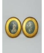 Vintage Italienische Florentine Frauen Damen Portrait Bild Holz Wand Tafel - $24.61