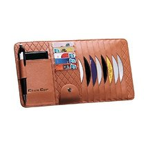 Multi-functions CD Visor CD Holder/wallet/organizer for Car (Brown)