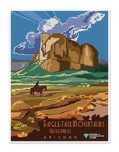 Eagletail Mountains Wilderness Arizona - US National Conservation Land Art Print - $14.95