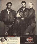 Harley-Davidson Motorcyle 1988 AD Collectibe Fashion Advertisement Photo... - $14.99