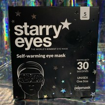 5 Pack POPMASK STARRY EYES The World's Kindest Eye Mask SEALED IN BOX image 1