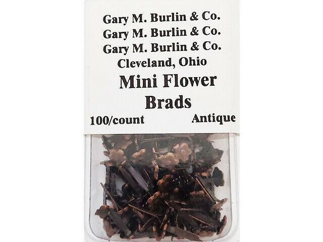 Gary M. Burlin & Co. Mini Flower Brads, 100 Count #BRAD810