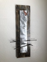 Metal wall art Silver Sculpture Home Decor by Holly Lentz - $129.00