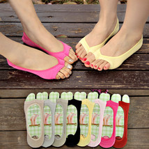 Womens Toeless Peep Toe Open Toe Flip Flops Sandal Sock Footsies Shoe Li... - $0.99