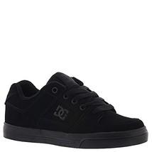 DC Pure Elastic Skate Shoe, Black, 3.5 M US Big Kid