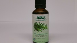 Organic Essential Oils, Rosemary, 1 fl oz (30 ml) - Now Foods not used - $11.62