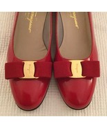 Salvatore Ferragamo Vara with Bows in Rosso (Red) Pump Size 8.5 B - $227.69