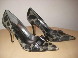 Nine West Shoes Size 5.5 M New Womens Bell Town Olive Black Leopard Pump... - $78.21
