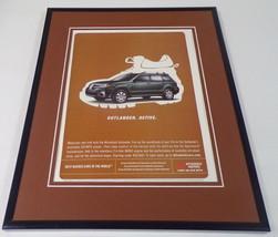 2005 Mitsubishi Outlander 11x14 Framed ORIGINAL Vintage Advertisement - $32.36
