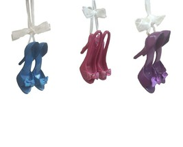 Kurt S. Adler T1081 Bow High Heel Shoe Ornaments Multicolor - $48.26