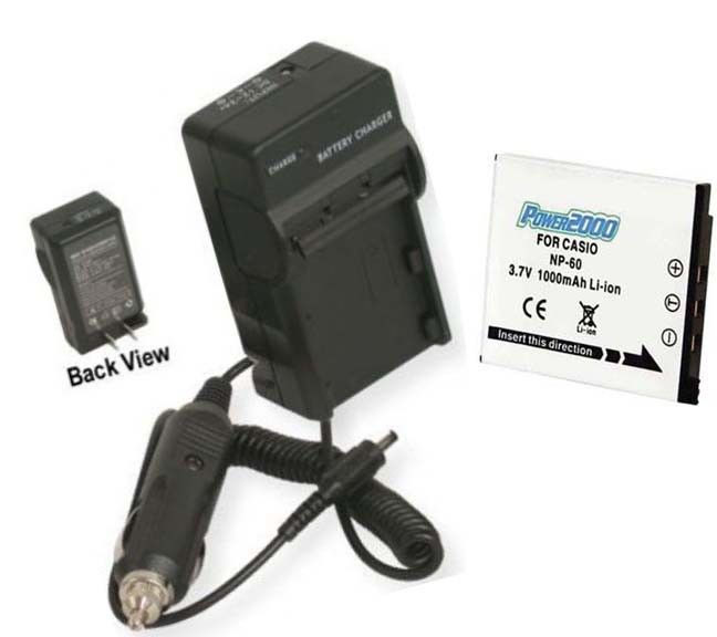 Primary image for Battery + Charger for Casio EX-Z21 EXZ21 EX-S10A EXS10A
