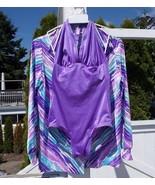 De Weese Design Vintage 70's Reversible One Piece Swimsuit PLUS Coverup ... - $46.00