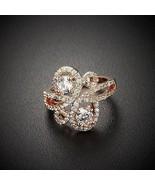 High Quality Copper Ring w/ Cubic Zirconia Stones Fashion Unique Elegant... - $15.79