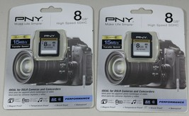 PNY 8 GB SDHC High Speed 15MB/s Ideal for DSLR Cameras & Camcorders Lot ... - $17.31