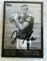 Joe Flacco RC 2008 Topps Mayo's Cut Plug Hand Signed Rookie Card COA GEM... - $39.59