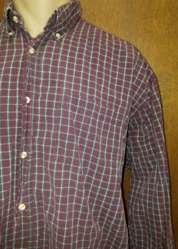 WRANGLER MEN'S PREMIUM QUALITY PLAID BUTTON UP LONGS SLEEVES 100% COTTON USED