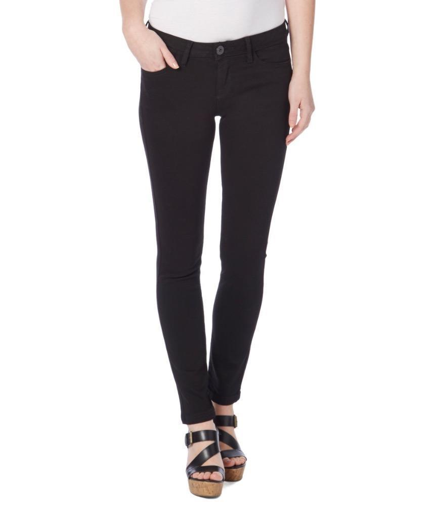 NEW KENSIE JEANS WOMEN'S PREMIUM SKINNY SLIM FIT ANKLE BITER JEANS BLACK