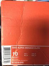 Sz NFL 010 Football Cleats 871519 Black Alpha Elite White RAIDERS Nike Menace 10 4a6AfwqAYx