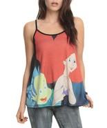 Disney The Little Mermaid Ariel And Flounder Girls Juniors Tank Top S - ... - $11.28