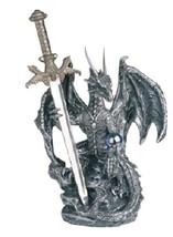 6.5 Inch Dragon Statue with Dagger Figurine Figure Fantasy Myth - $22.00