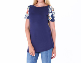 2017 Summer Patchwork Floral Print Short Sleeve Slim Fit Women Casual T Shirts - $17.99