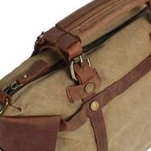 On Sale, Canvas With Leather Bag, Leather Briefcase, Messenger Bag, Shoulder Bag image 6