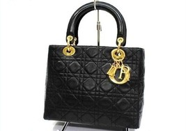 AUTHENTIC CHRISTIAN DIOR Lady Dior Lambskin Han... - $1,200.00