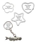 Channel Catfish Pewter Emblem split-ring Heart Star key ring keyring cod... - $11.46