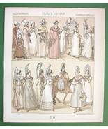 FANCE Costume of Normandy Women - 1888 COLOR Print A. Racinet - $8.74