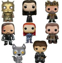 POP Action Figure Vinyl Dolls Game of Thrones 8 Rob Stark Grey Wind Arya... - $8.99