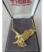New in Box Gold Tone American Eagle Pendant Chain Necklace TIGRE Jewelry... - $45.49