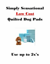 Quilted Puppy Pads Low Cost 4-Layers-Use up to 3x's Bulk Discounts 17x24... - $34.95+