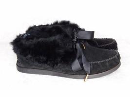 Tory Burch Aberdeen Fur Lined Slipper Black 7 - £59.61 GBP