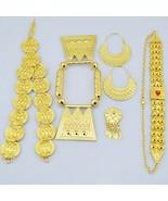 Ethlyn  Eritrean Wedding Traditional Jewelry Five Pcs Choker Sets Gold C... - $36.51