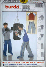 Boys Sweat Pants, Boys Hoodie, Sweat Shirt, Burda 9811, Sizes 7 to 12 Co... - $10.00